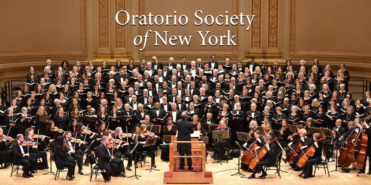 Oratorio Society of New York 19-20 Season Ticket Subscription DecMarMay