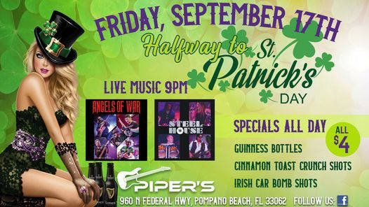 Halfway to St. Patrick's Day Party at Piper's, 17 September   Event in West Palm Beach   AllEvents.in