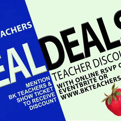 BK TEACHERS IDEAL DEALS- TEACHER DISCOUNTS
