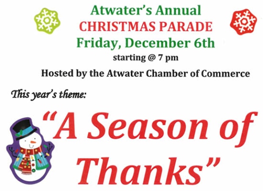 Atwater Christmas Parade 2021 Atwater Christmas Parade A Season Of Thanks Atwater California December 6 2019 Allevents In