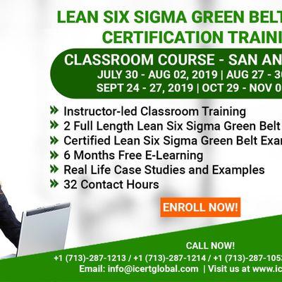 Lean Six Sigma Green Belt Certification Training Course in San Antonio TX USA.
