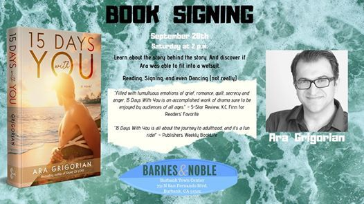 Book Signing at Burbank Barnes & Noble - 15 Days With You