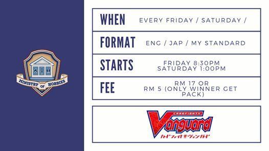 Weekly Tournament - Cardfight Vanguard STD ENG