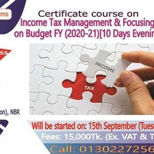 """Certificate course on Income Tax Management & Budget (2020-21)"""""""