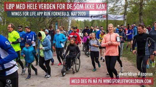 Wings for Life World Run 2020 - APP RUN - Norge Fornebu