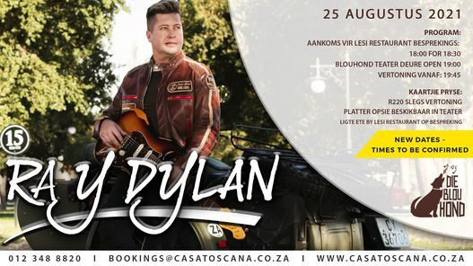 Ray Dylan, 25 August   Event in Pretoria   AllEvents.in
