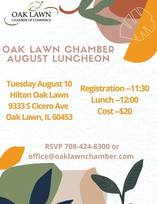 August Luncheon, 10 August   Event in Oak Lawn   AllEvents.in