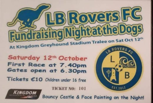 LB ROVERS FC FUNDRAISING NIGHT AT THE DOGS