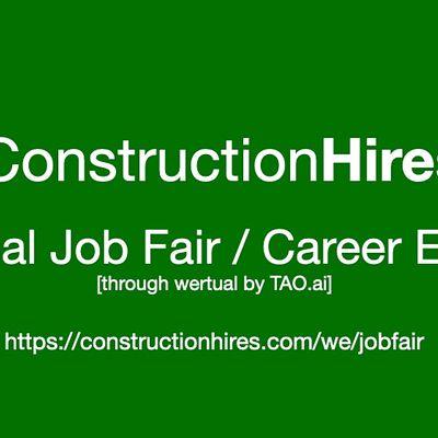 ConstructionHires Virtual Job Fair  Career Expo Event Sacramento