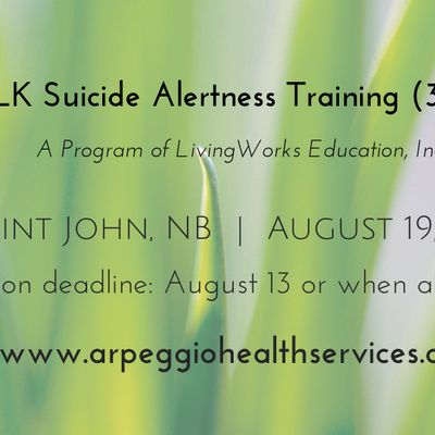 The Mentally Healthy Workplace - Saint John NB - August 19 2019