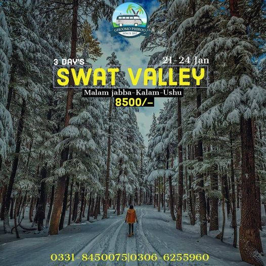 3 Days Tour to Swat, Kalam, Ushu and Malam Jabba, 21 January | Event in Gujranwala | AllEvents.in