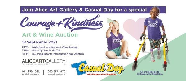 Courage & Kindness Art & Wine Auction, 18 September | Event in Roodepoort | AllEvents.in