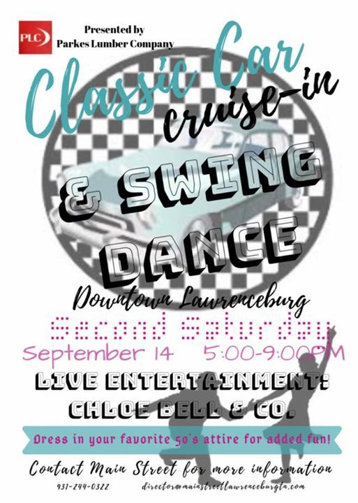 Second Saturday Classic Car Cruise-in & Swing Dance at Main