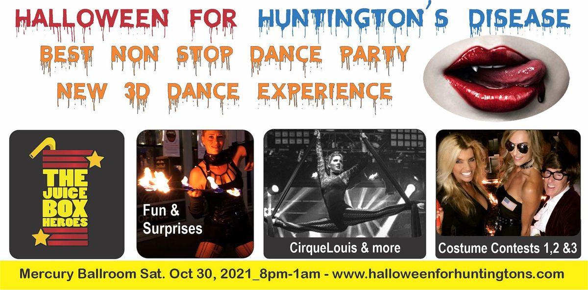 Halloween for Huntingtons- Mercury Ballroom Dance Party Oct 30 2021