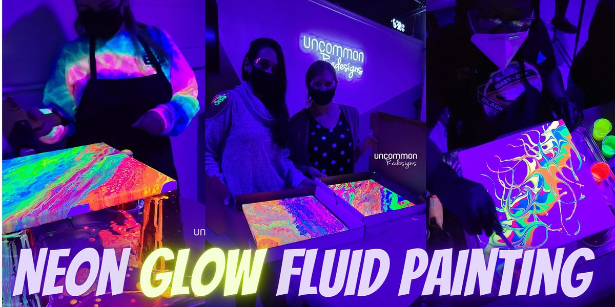 Neon GLOW Acrylic Fluid Painting   Event in Virginia Beach   AllEvents.in