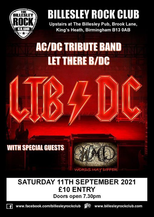 Let There B/DC (AC/DC Tribute) + support from WMD - Entry £10 on the door, 11 September   Event in Birmingham