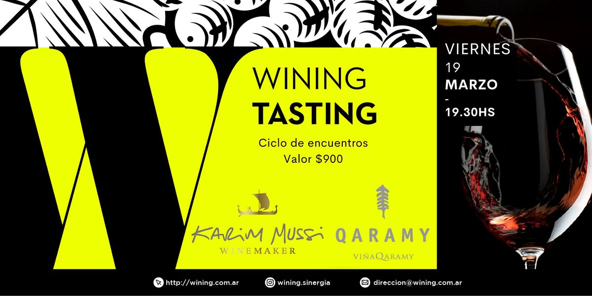 Wining Tasting #KarimMussi #Qaramy, 19 March | Event in Villa Crespo | AllEvents.in