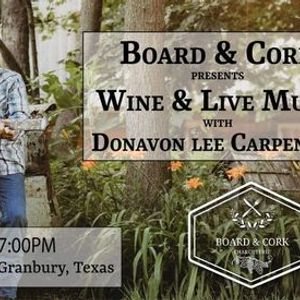 Music Night at Board & Cork with Donavon Lee