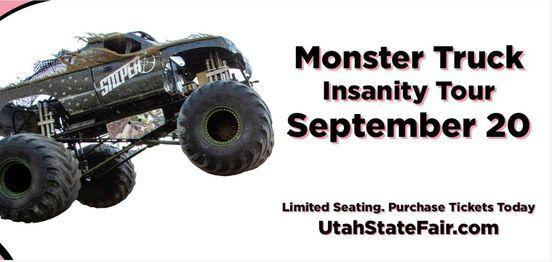 Monster Truck Insanity Tour Utah State Fair Salt Lake City 20 September