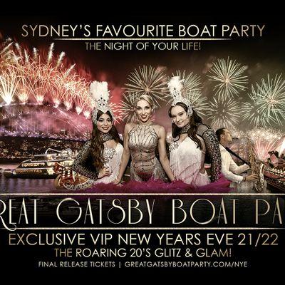 NYE Sydney  Great Gatsby Boat Party 202122