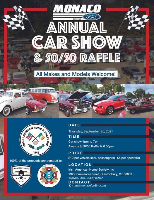 Monaco Ford Annual Car Show & 50/50 Raffle, 23 September | Event in Glastonbury | AllEvents.in