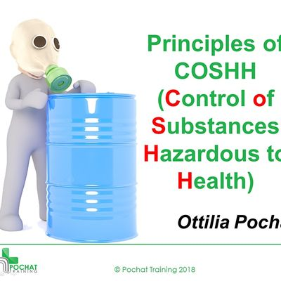 QA Level 2 Award in Principles of COSHH (RQF)