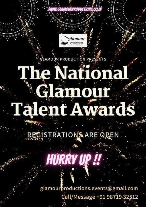 """""""The National Glamour Talent Awards"""", 30 September   Event in New Delhi   AllEvents.in"""