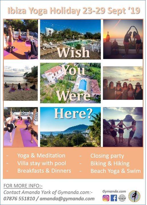 Yoga Holiday in Ibiza! at Cala Pada, Ibiza