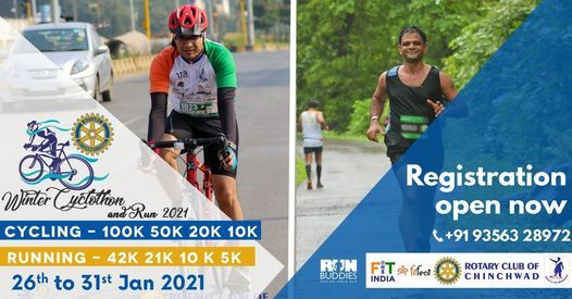 ROC Winter Cyclothon & Run VR 2021, 25 January | Online Event | AllEvents.in