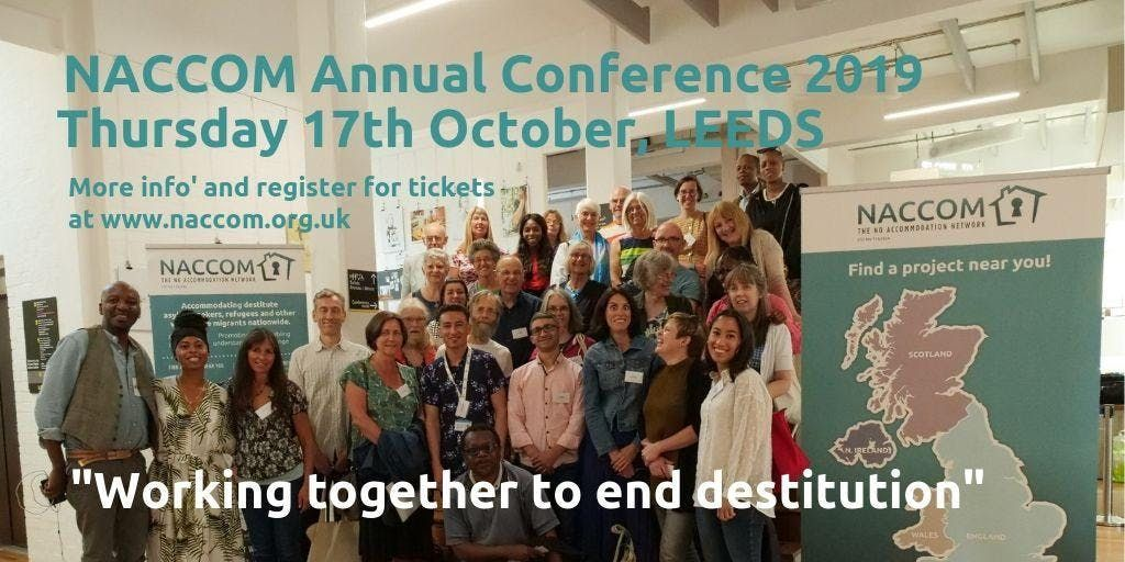 NACCOM Annual Conference 2019 Working Together to End Destitution