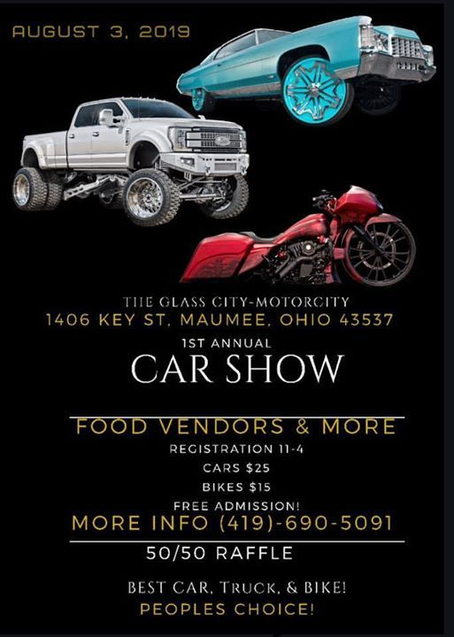 Glass City- Motorcity 1st Annual Car Show at Maumee, Ohio