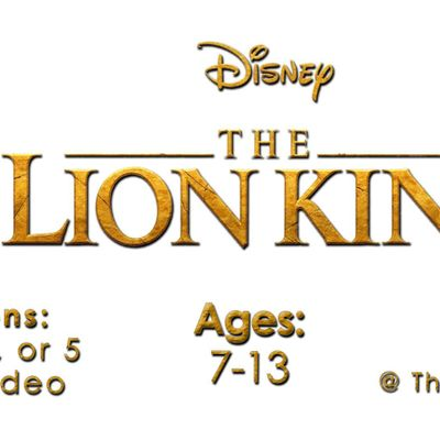AUDITIONS for THE LION KING Full-Scale Spring Production