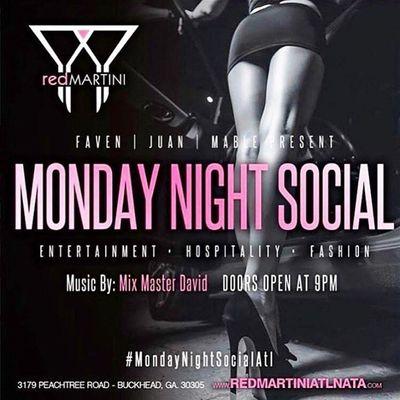 Monday Night Social  Red MartiniLadies in Free B4 12amSOGA Ent9
