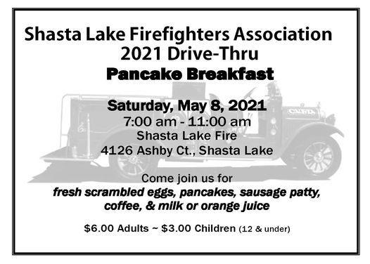 Shasta Lake Firefighters Drive Thru Pancake Breakfast | Event in Shasta | AllEvents.in