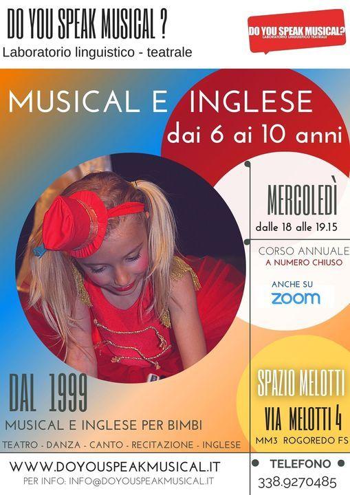 Corso di Musical e Inglese per bambini 6-10 anni Santa Giulia/ Rogoredo, 20 January   Event in Milano   AllEvents.in