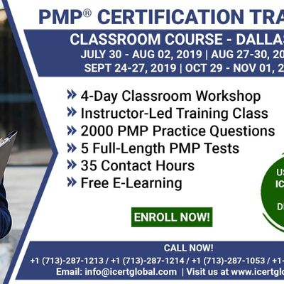 PMP Certification Training Course in Dallas TX USA  4-Day PMP Boot Camp with PMI Membership Included.