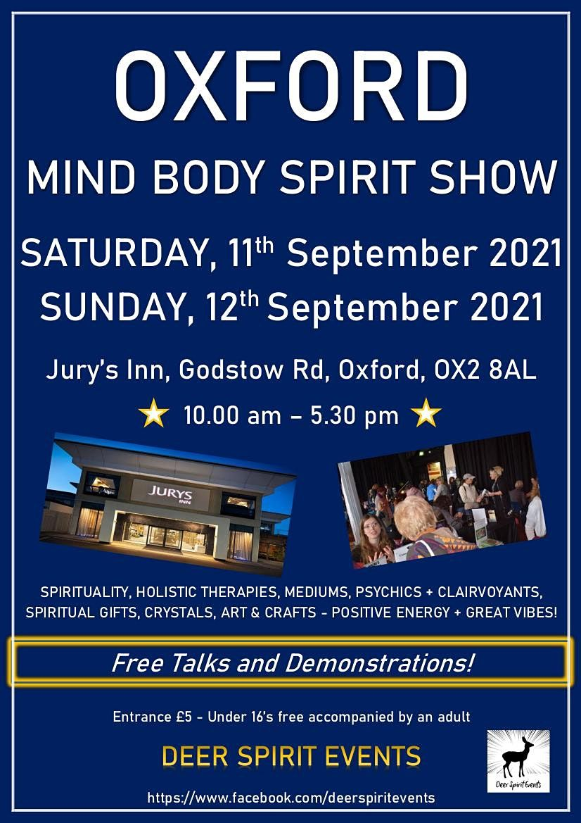 Oxford Mind Body Spirit Wellbeing Show, 11 September | Event in Oxford | AllEvents.in