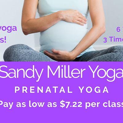 6 Week 3 Times Per Week Prenatal Yoga Series Live Online