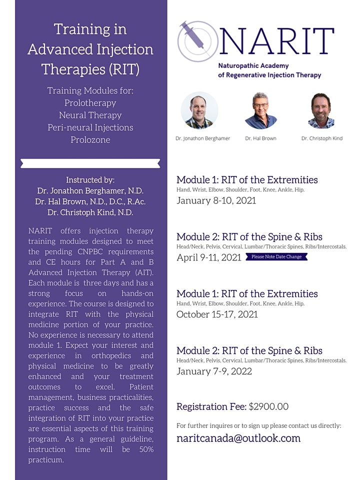 Rit 2022 Calendar.Advanced Injection Therapies Training Rit Catalyst Kinetics Group Burnaby January 8 To April 11 Allevents In