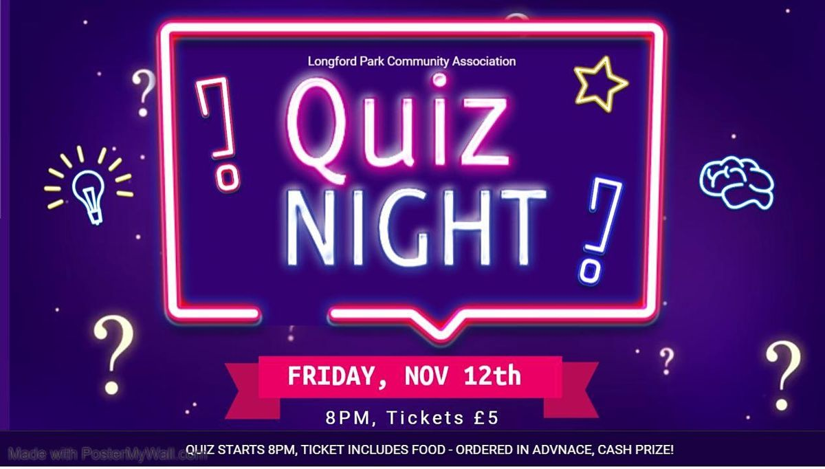 Quiz Night, 12 November   Event in Banbury   AllEvents.in