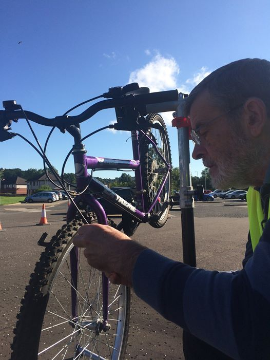 Dr Bike at the Active Travel Hub