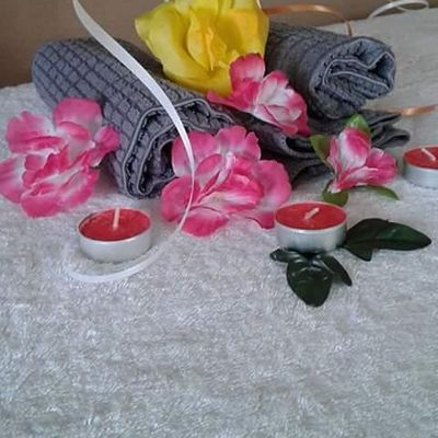 Little Princess Pamper Party - a Robes and Slippers Affair OutdoorInside Party Set-up