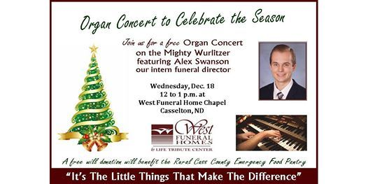 Holiday Organ Concert At West Funeral Homes Inc Mapleton