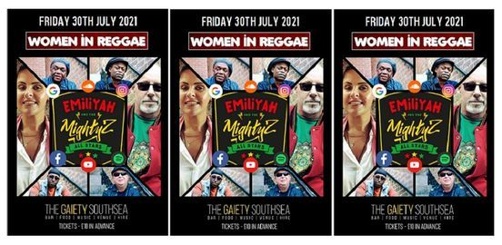 Women in Reggae with EMiliYAH and The MightyZ All Stars at the Gaiety Southsea South Parade Pier, 30 July