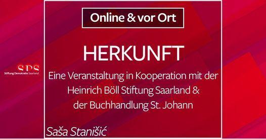 Saša Stanišić: HERKUNFT - Lesung | Online Event | AllEvents.in