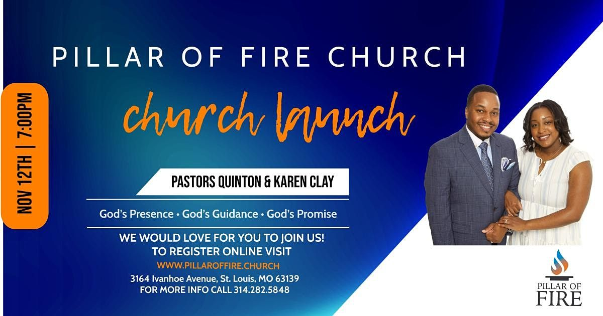 Pillar of Fire Church: Ministry Launch, 12 November | Event in St. Louis | AllEvents.in