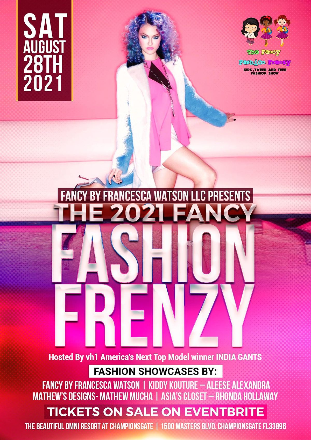 The Fancy Fashion Frenzy Hosted by America's Next Top Model India Gants, 28 August | Event in Championsgate