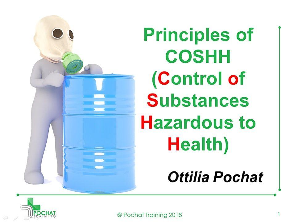 QA Level 2 Award in Principles of COSHH (RQF)   Event in Brimington   AllEvents.in