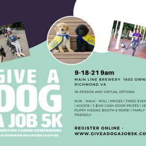3rd Annual Give a Dog a Job 5K Benefiting Canine Companions
