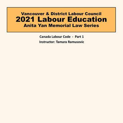 Canada Labour Code - Part 1